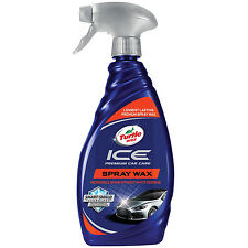 Turtle Wax ICE Premium Car Care SPRAY WAX Synthetic Formula All Exter. Surfaces