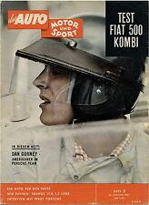 Auto Motor Sport 2 61 1961 Fiat 500 Kombi Ford Taunus 17M Mercedes 300 Landaulet