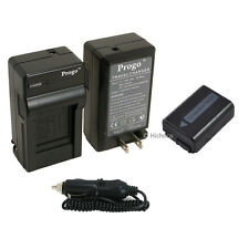 Battery & Charger Kit for Sony NP-FW50 DSC-RX10 Alpha 7 SLT-A55 SLT-A37 SLT-A33