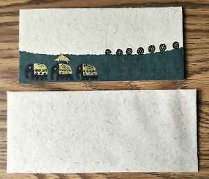 NEW Beautiful Greetings Card made from recycled Elephant poo