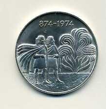 1000 Kronur Island 1974 zwei Wikinger Silber Gute Erhaltung M_734