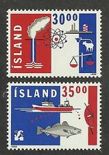 Iceland 752-753 (1992) Mnh/Ognh; Vf/Xf {Illustrated} 2 Stamps