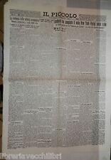 IL PICCOLO 22 maggio 1927 Volo atlantico senza scalo Lindberg New York Parigi di