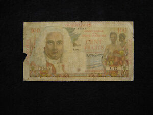 Guadeloupe P-35 1947 100 Francs Fair