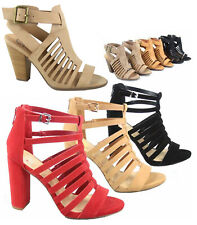105c6aa5ab78 Women s Open Toe Chucky High Heel Ankle Buckle Sandal Shoes Size 5.5 - 11  NEW