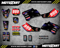 Full Custom Graphic Kit BARBED STYLE Yamaha TTR 90 - 2000 - 2007 stickers decals