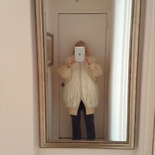 White Fox Fur and wool 3/4 length coat.