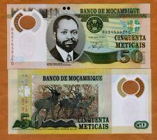 Mozambique, 50 Meticais 2011, P-150a, POLYMER, UNC > Antelopes