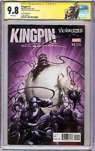 KINGPIN #2 VENOMIZED VARIANT CGC 9.8 SS Signed Clayton Crain!! (SPIDER-MAN)