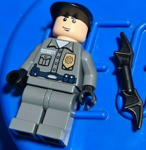 Genuine Lego DC BATMAN security guard Minifigure from 7785 bat020 displayed only