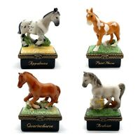 PHB Collection HORSE TRINKET BOXES - Set of 4 Paint Appaloosa Quarter Arabian