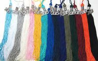 """Graduation Tassel SILVER CHARM 9"""" Solid colors Cap & Gown High School College"""