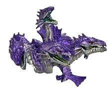Safari Ltd/Plastoy Purple Four-Headed DRAGON/Hydra Figurine Fantasy Mythical