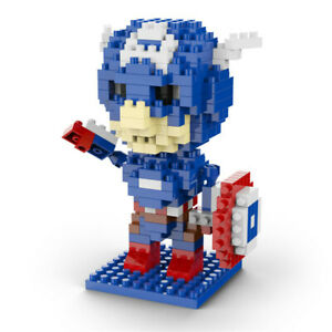 Captain America Superhero LOZ Style 220pc Nano Brick Mini Building Block Puzzle