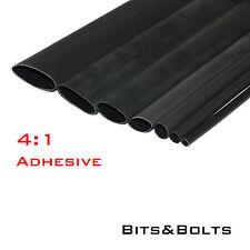 4:1 Black Adhesive Heat shrink Waterproof HeatShrink Glue Lined Tubing Sleeving