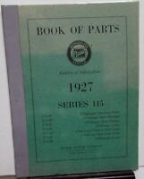 1927 Buick Dealer Book Of Parts Catalog List Series 115 Sedan Coupe Reproduction