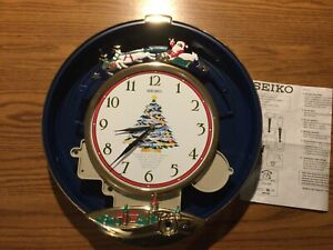 SEIKO Melodies In Motion Musical Christmas Santa Clock (Clear Cover Missing)