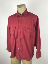Timberland Weathergear Mens Red Outdoors Button Down Shirt Sz XL (D)