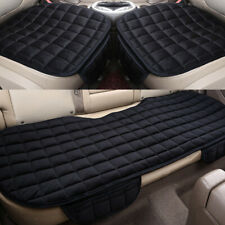 Black Universal Car Seat Cover Cushion Pad Protector Front Rear Nonslip Plush