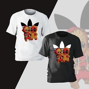 Deadpool Groot T-Shirt Mens Kids Comedy Marvel Insipired Funny Gift Present Tee