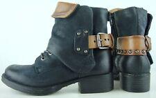MJUS Boots Damen Bootie Stiefeletten Schnürstiefelette Biker Boots Gr.36 NEU