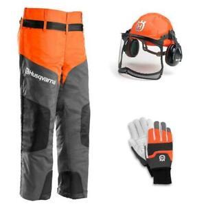 HUSQVARNA Chainsaw Protective Kit Leggings/Chaps Chainsaw Helmet & Gloves