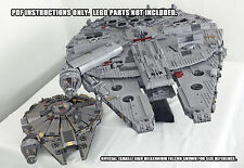 INSTRUCTIONS ONLY! Custom UCS Lego Millennium Falcon Star Wars (not 10179)