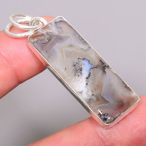 """Montana Agate - From The Yellow Stone River 925 Sterling Silver Pendant 2.03"""" P1"""