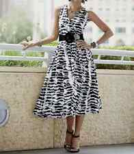 Black White Print Maricza Dress  NEW NWT Size XL (NO Belt) Ashro