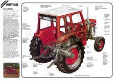 Vintage Massey Ferguson Tractor 188 135 CUTAWAY SALES BROCHURE/POSTER ADVERT A3
