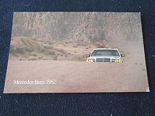 1982 Mercedes Catalog 300 D TD 300SD 380 SEC SEL SL 380SEC 380SL 380SEL Brochure