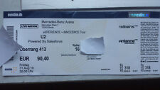 U2 ‎– Ticket - BERLIN 31.8.2018 - eXPERIENCE + iNNOCENCE Tour - Sitzplatz