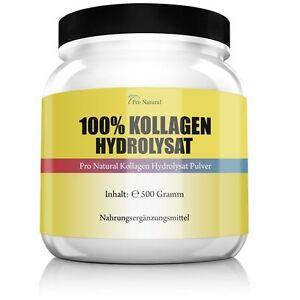Pro Natural Kollagen Hydrolysat Pulver 500g Haut Gelenke & Knorpel
