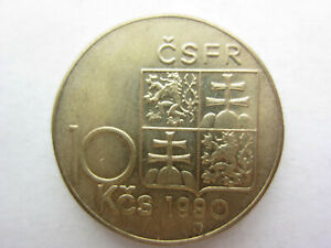 CSFR,Tschechoslowakei 10 Kronen 1990,Masaryk