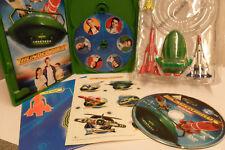 5 4 3 2 1 THUNDERBIRD MOVIE DVD SET + TRACY ISLAND MAP + 4 TOYS & RARE STICKERS