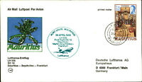 LUFTHANSA Erstflug 1982 MAURITIUS Mahe SEYCHELLES Frankfurt 1st flight LH 535