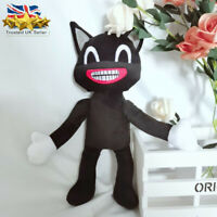 Cartoon Siren Head Plush  Black Cat Toy Horror Stuffed Doll Kids Xmas Gift UK