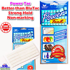 75g White Power Tack Rubber Adhesive Reusable Tak Tac double sided Blu Glue Tape