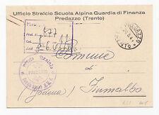 F736-RSI-SCUOLA ALPINA GUARDIA DI FINANZA PREDAZZO 1944