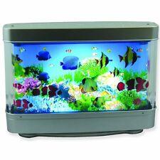 Ocean In Motion Tropical Fish Table Moving Aquarium Night Light Lamp Tropical