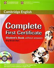 Cambridge completa primera certificado Student's Book & CD-ROM sin respuesta Nuevo