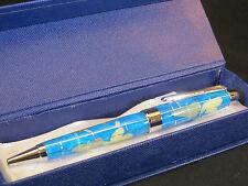 Genuine Multi-Gemstone Globe Pen in Turquoise - Great Gift - Free Shipping