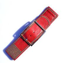 Hot small studded rectangular gold buckle 6cm wide elastic Stretch belt Belt 306