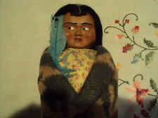 VINTAGE SKOOKUM NATIVE AMERICAN INDIAN DOLL 9 1/2''  TALL