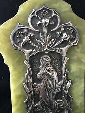 Benitier Onyx Argenté Art nouveau Vers 1900