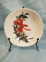 Vintage IVA LURE Crooksville Flamingo Red Hibiscus Soup Bowl Replacement Dish