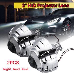 3'' HID Bi-Xenon Projector Lens Headlight Shroud H1 H4 H7 Car Headlight Retrofit