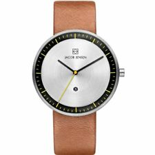 Jacob Jensen 271 Strata Gents Brown Leather Strap Watch
