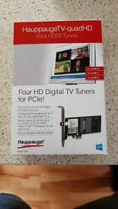 Happauge TV Tuner PCIe Pal TV connection WinTV QuadHD 4 Tuners