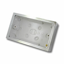 Varilight Polished Chrome 2 Gang Surface Mounted Pattress Box for Double Socket